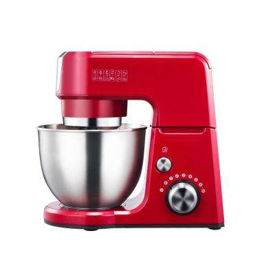 GM25 2.6 Qt. Mini 4-in-1 Tilt Head Red Stand Mixer