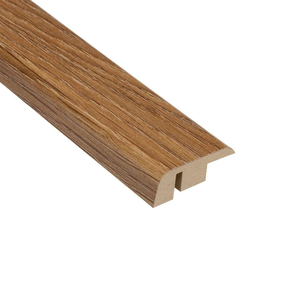 null Palace Oak Light 7/16 in. Thick x 1-5/16 in. Wide x 94 in. Length Laminate Carpet Reducer Molding