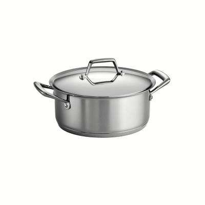 Gourmet Prima 6 Qt. Stainless Steel Sauce Pot with Lid