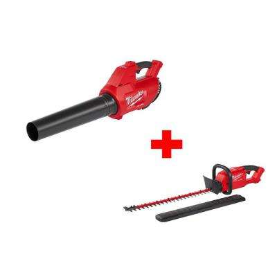 M18 FUEL 100 MPH 450 CFM 18-Volt Lithium-Ion Brushless Cordless Handheld Blower and M18 FUEL Hedge Trimmer Bare Tool