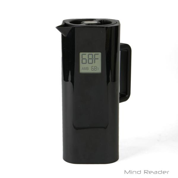 Mind Reader 4-Cup Black Double Wall Thermal Coffee Carafe with Temperature Display