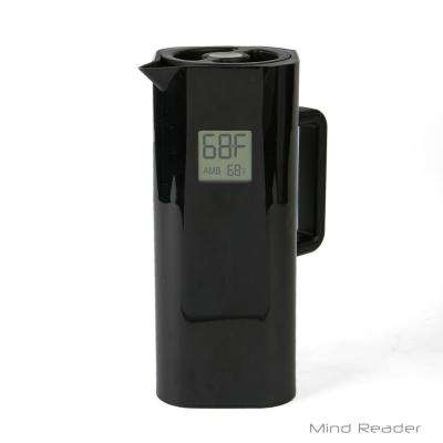 4-Cup Black Double Wall Thermal Coffee Carafe with Temperature Display
