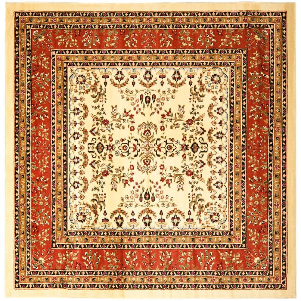 Safavieh Lyndhurst Ivory Rust 8 Ft X Square Area Rug