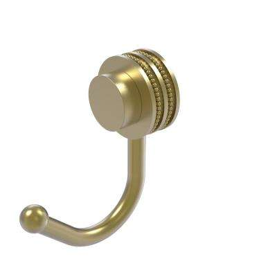 Venus Collection Robe Hook with Dotted Accents in Satin Brass
