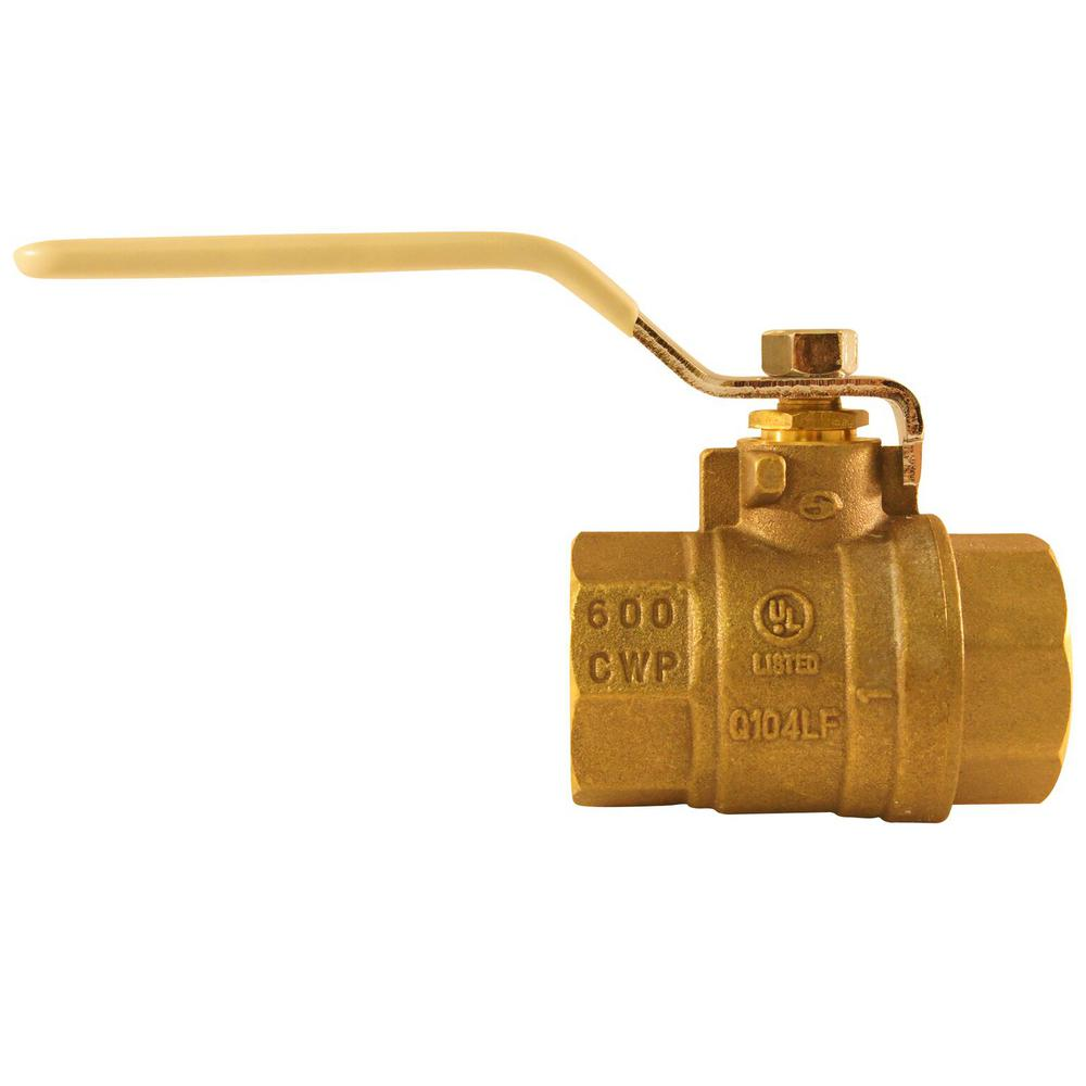 1 in. Lead Free Brass FNPT x FNPT Full-Port Ball Valve