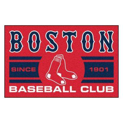 Mlb Boston Red Sox Blue 2 Ft X 3 Area Rug
