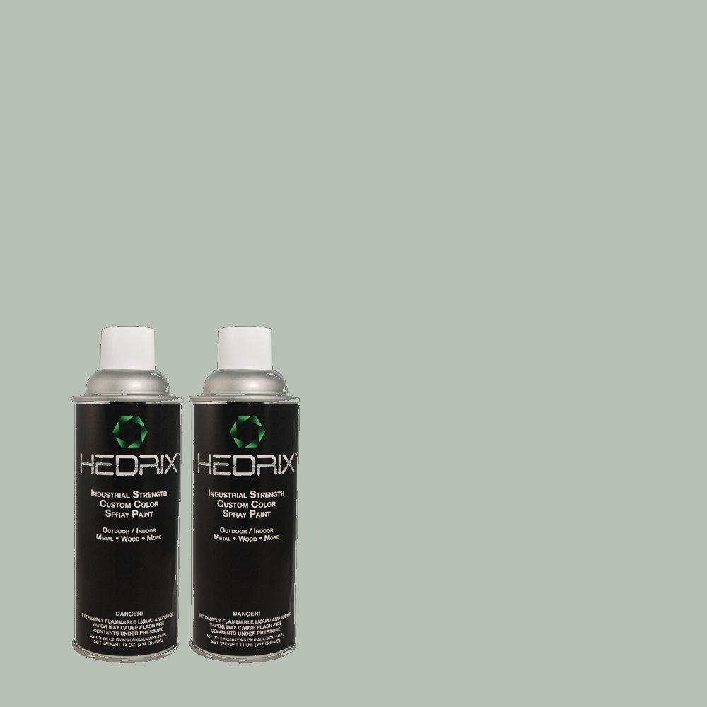 Hedrix 11 oz. Match of MQ6-4 Gray Wool Flat Custom Spray Paint (8-Pack)
