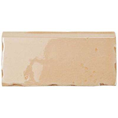 Novecento Zocalo Canela 2-1/2 in. x 5-1/8 in. Ceramic Wall Trim Tile
