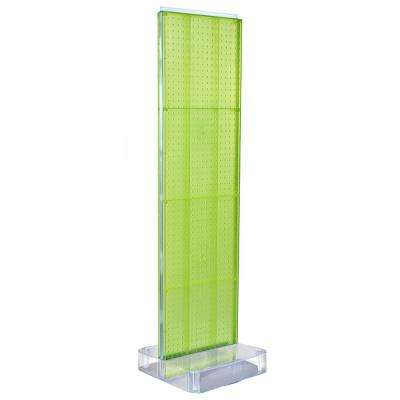 60 in. H x 16 in. W 2-Sided Pegboard Floor Display on Studio Base in Green