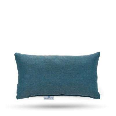 Sunbrella Cast Lagoon Rectangular Lumbar Outdoor Throw Pillow (2 Pack)