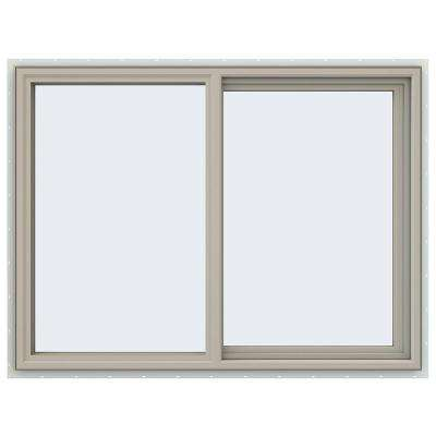 47.5 in. x 35.5 in. V-4500 Series Right-Hand Sliding Vinyl Window - Tan