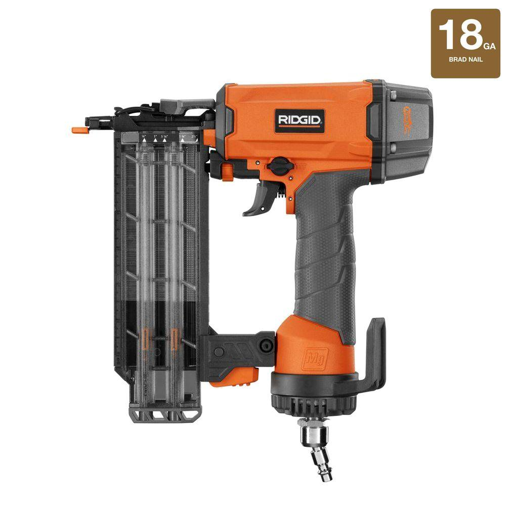 Ridgid 18 gauge 2 18 in brad nailer r213bne the home depot greentooth Images
