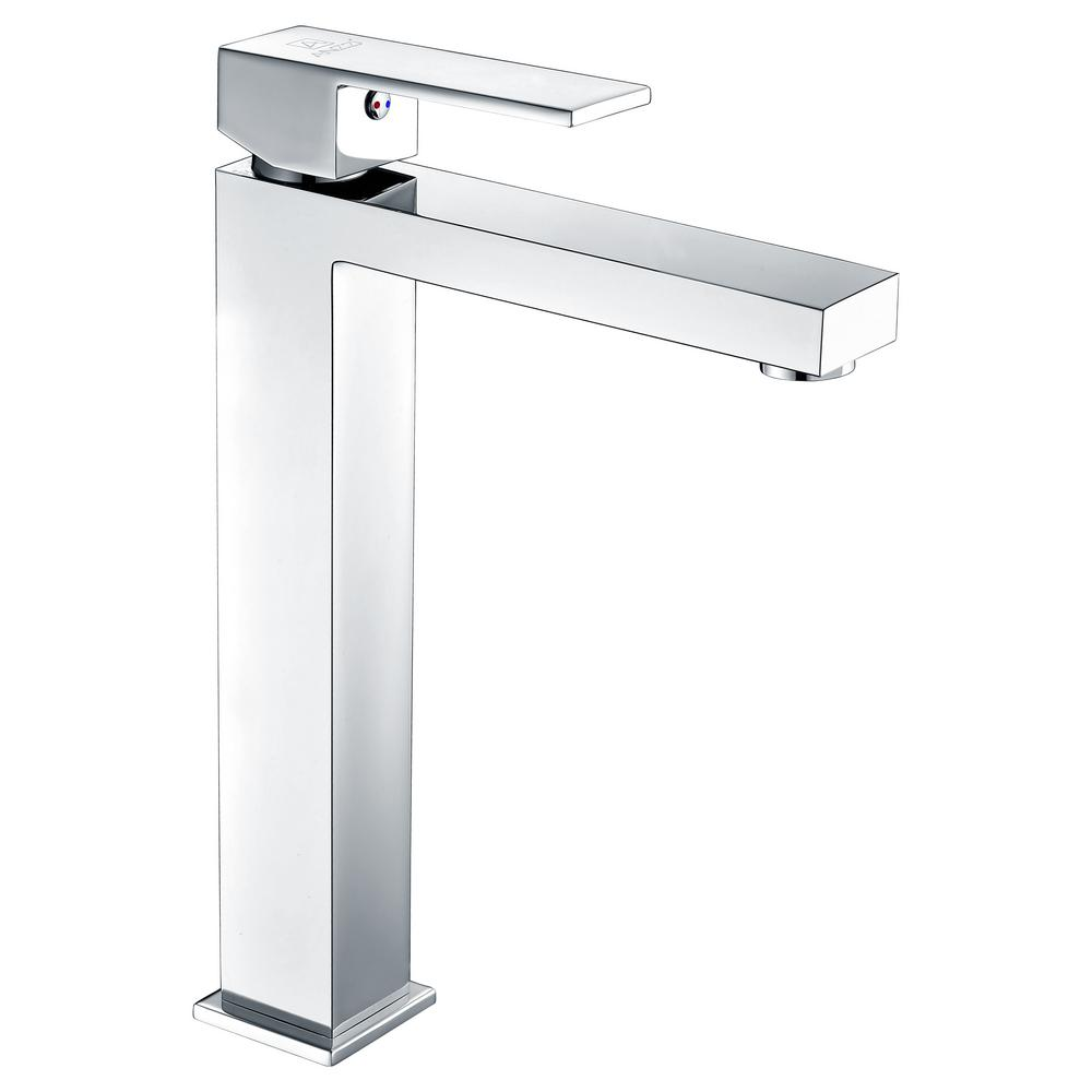 ANZZI Enti Series Single Hole Single-Handle Vessel Bathroom Faucet in Polished Chrome