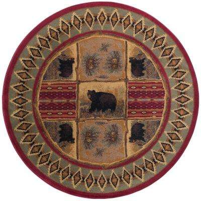 Nature Red 7 ft. 10 in. Round Area Rug
