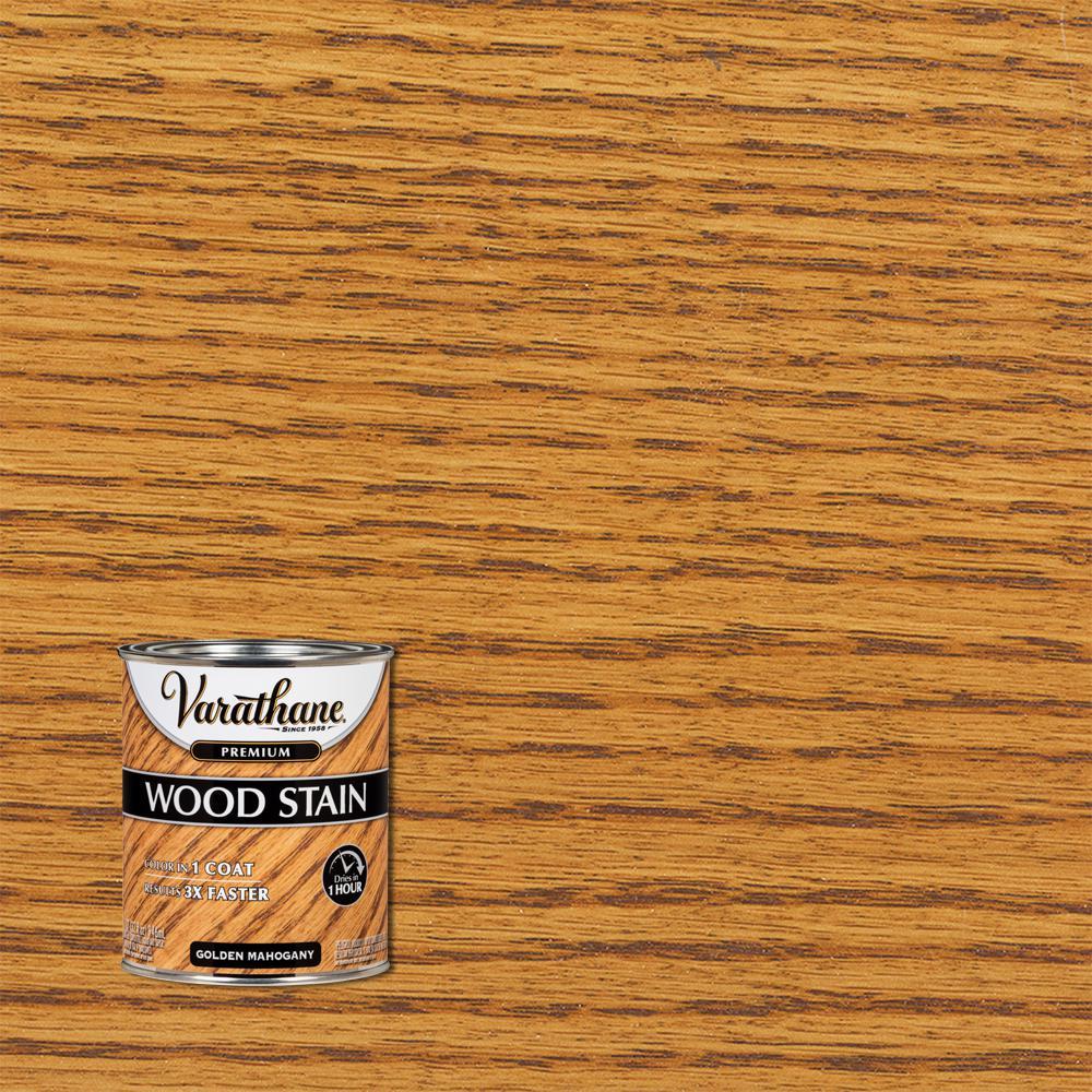 Varathane 1 qt. Golden Mahogany Premium Fast Dry Interior Wood Stain (2-Pack)