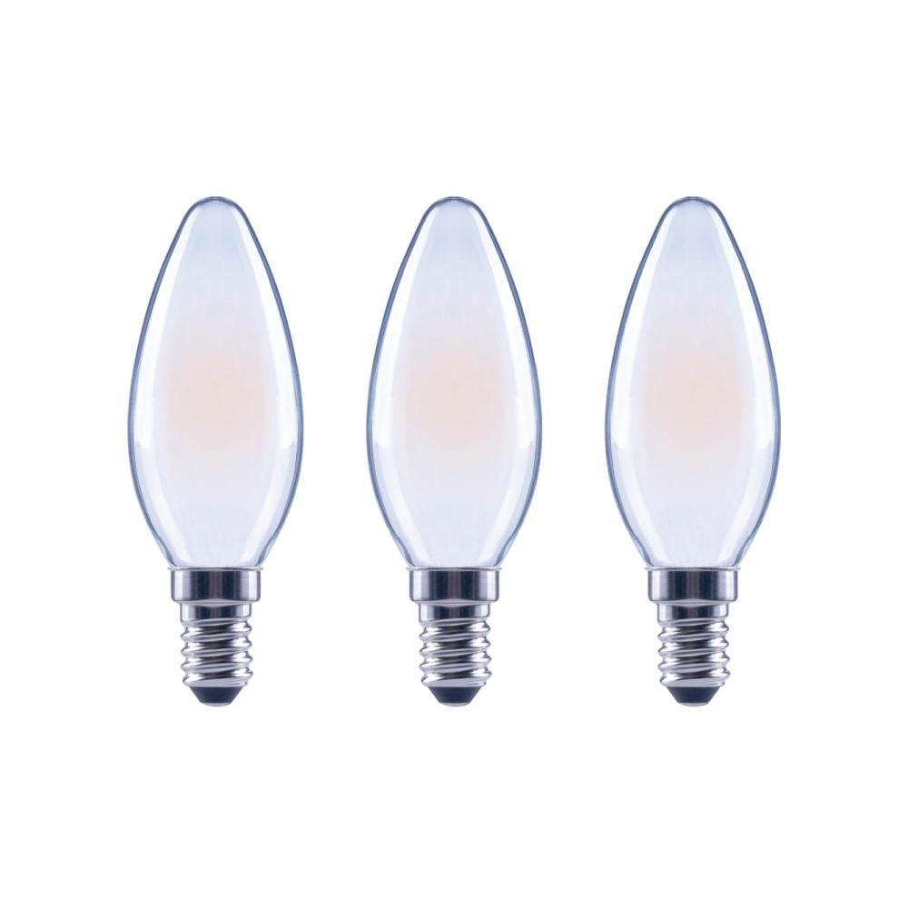 EcoSmart EcoSmart 60-Watt Equivalent B11 Dimmable ENERGY STAR Frosted Glass Filament Vintage Edison LED Light Bulb Soft White (3-Pack)