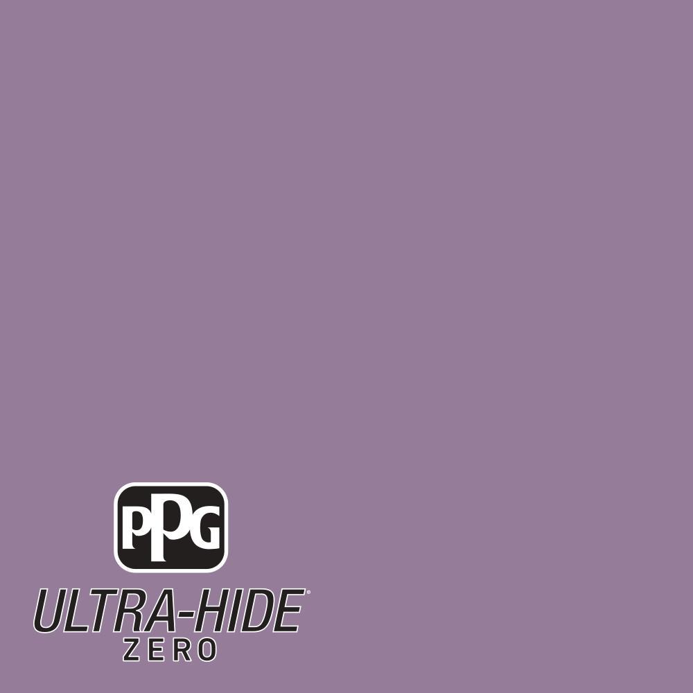 PPG 1 gal. #HDPV59D Ultra-Hide Zero Purple Foxglove Flower Flat Interior Paint