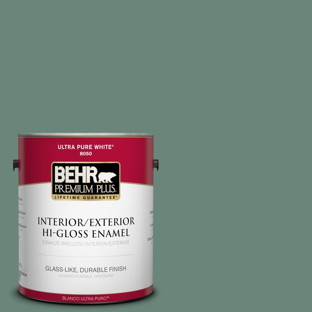 1-gal. #470F-5 Garland Hi-Gloss Enamel Interior/Exterior Paint