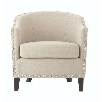 More Linen Oatmeal Club Chair