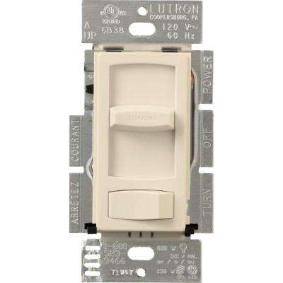 Skylark Contour C.L Dimmer Switch for Dimmable LED, Halogen and Incandescent Bulbs, Single-Pole or 3-Way, Light Almond