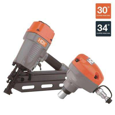 Pneumatic 34 Degree Framing Nailer with Palm Nailer Combo Kit
