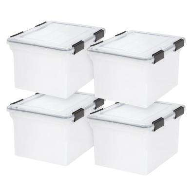 Weather Tight Letter and Legal File Box in Clear (4 per Pack)
