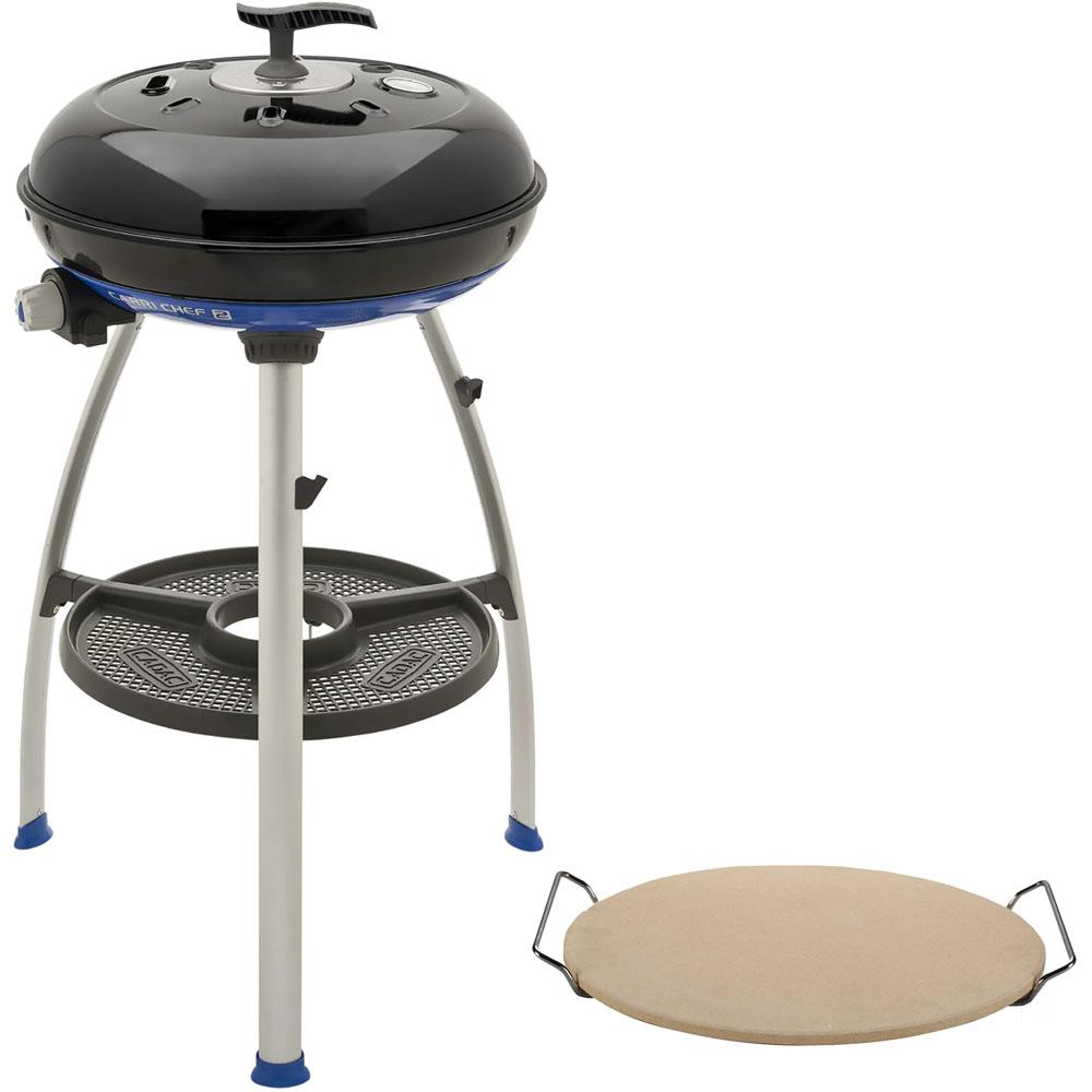 Carri Chef 2 Portable Propane Gas Grill in Black with Pot