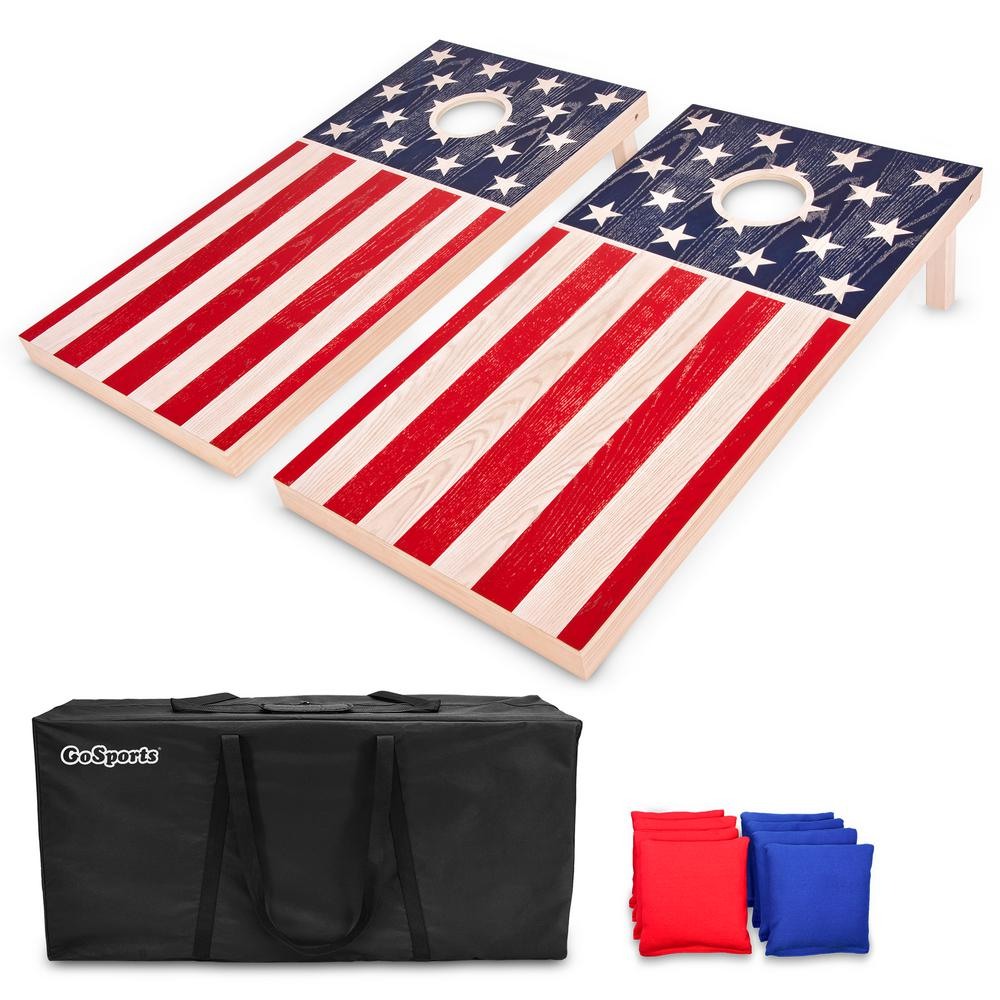 e5fb63d0a8073 GOSPORTS 4 ft. X 2 ft. American Flag Regulation Size Solid Premium ...