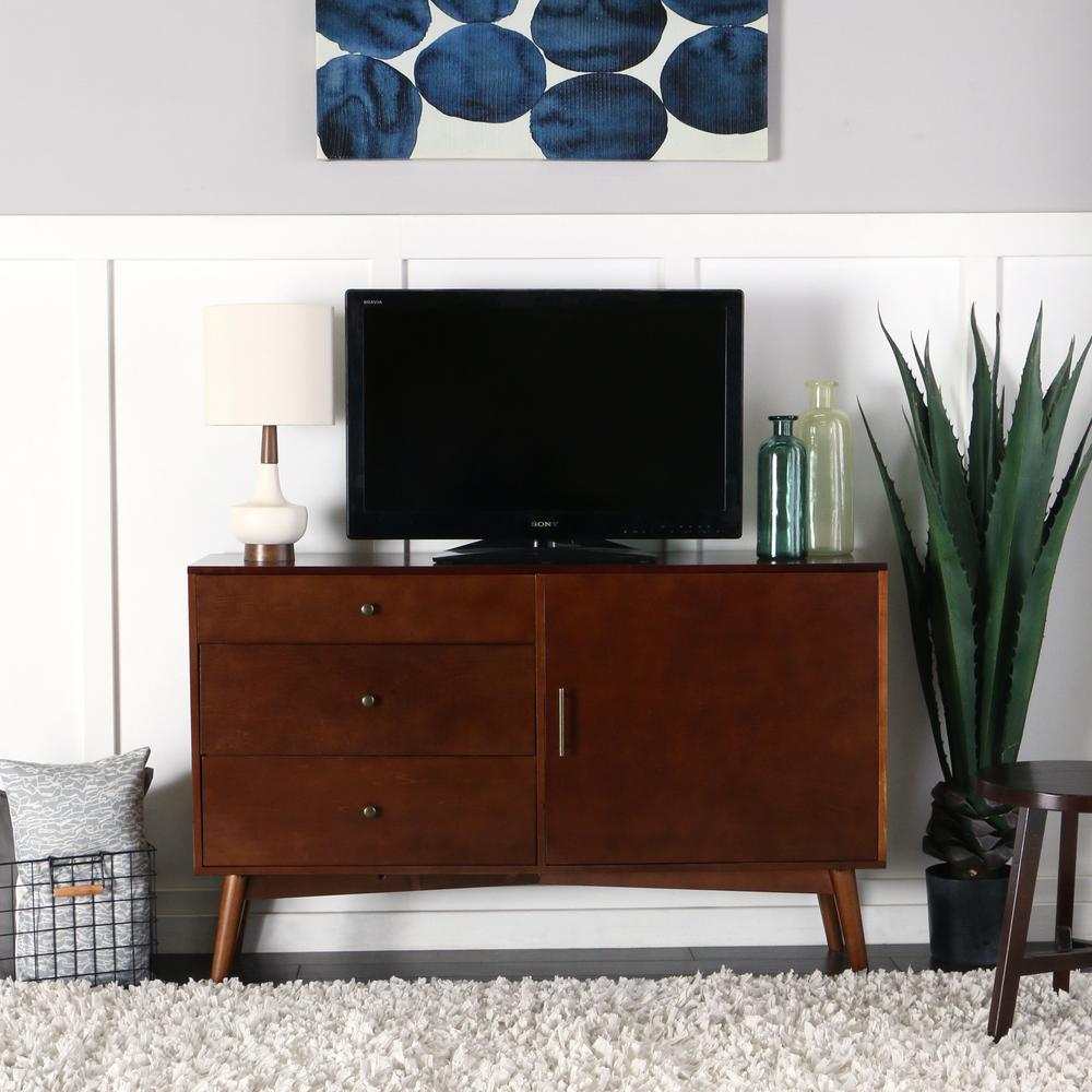 Superb Walker Edison Furniture Company Walnut Entertainment Center