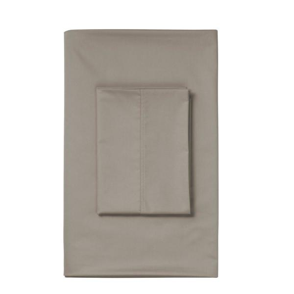The Company Store Mocha 450 Thread Count Sateen Twin Flat Sheet