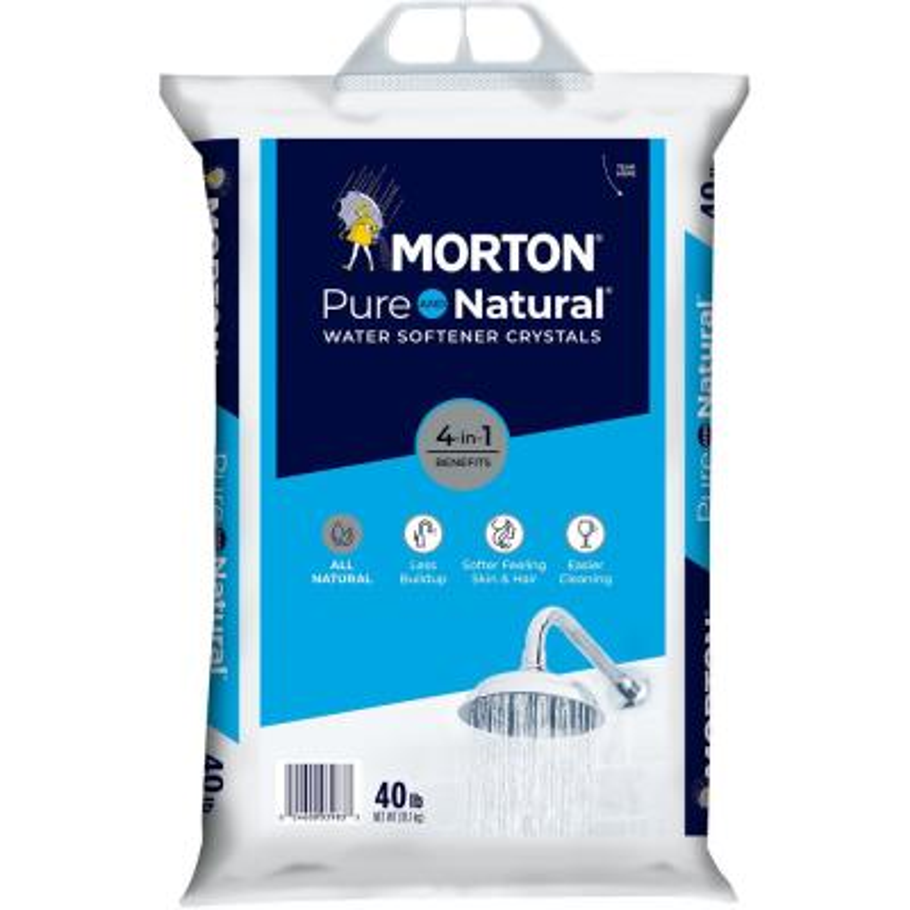 Morton Pure and Natural Water Softener Crystals (40 lb.)