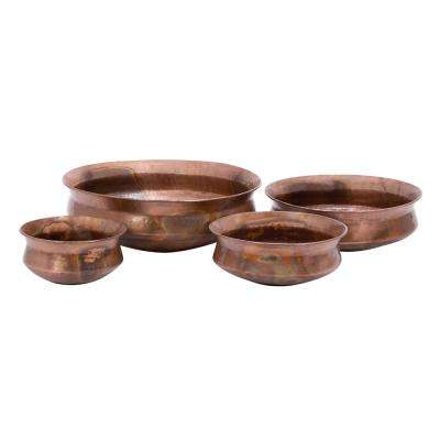 Copper Basin Planters (Set of 4)