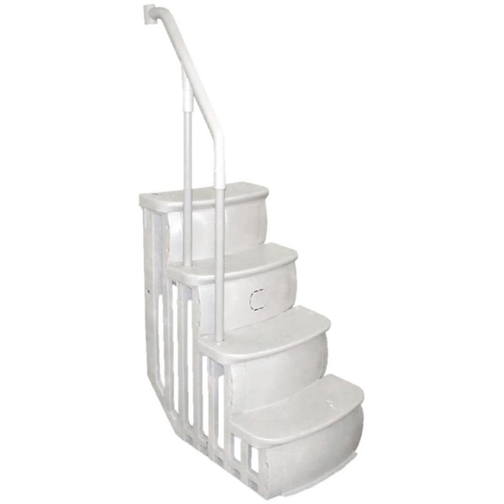 Main Access Entry Smart Step and Ladder Steps for Above Ground Swimming Pool