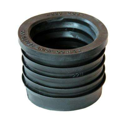 2 in. Service Weight Cast Iron Hub to 2 in. Sch. 40 PVC Compression Donut