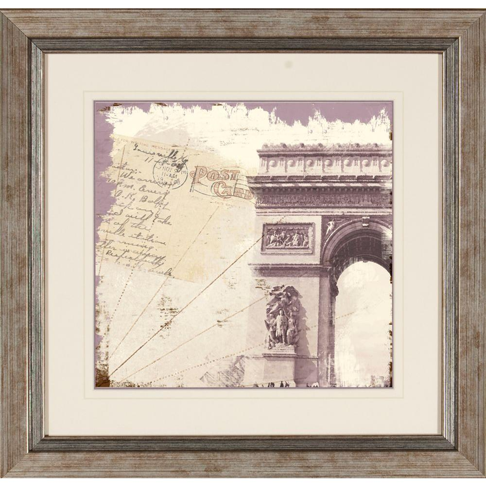 "null 19 in. x 19 in. ""Shabby Travel B"" Framed Wall Art"