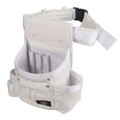 8-Pocket Utility Pouch Construction Tool Holder, White