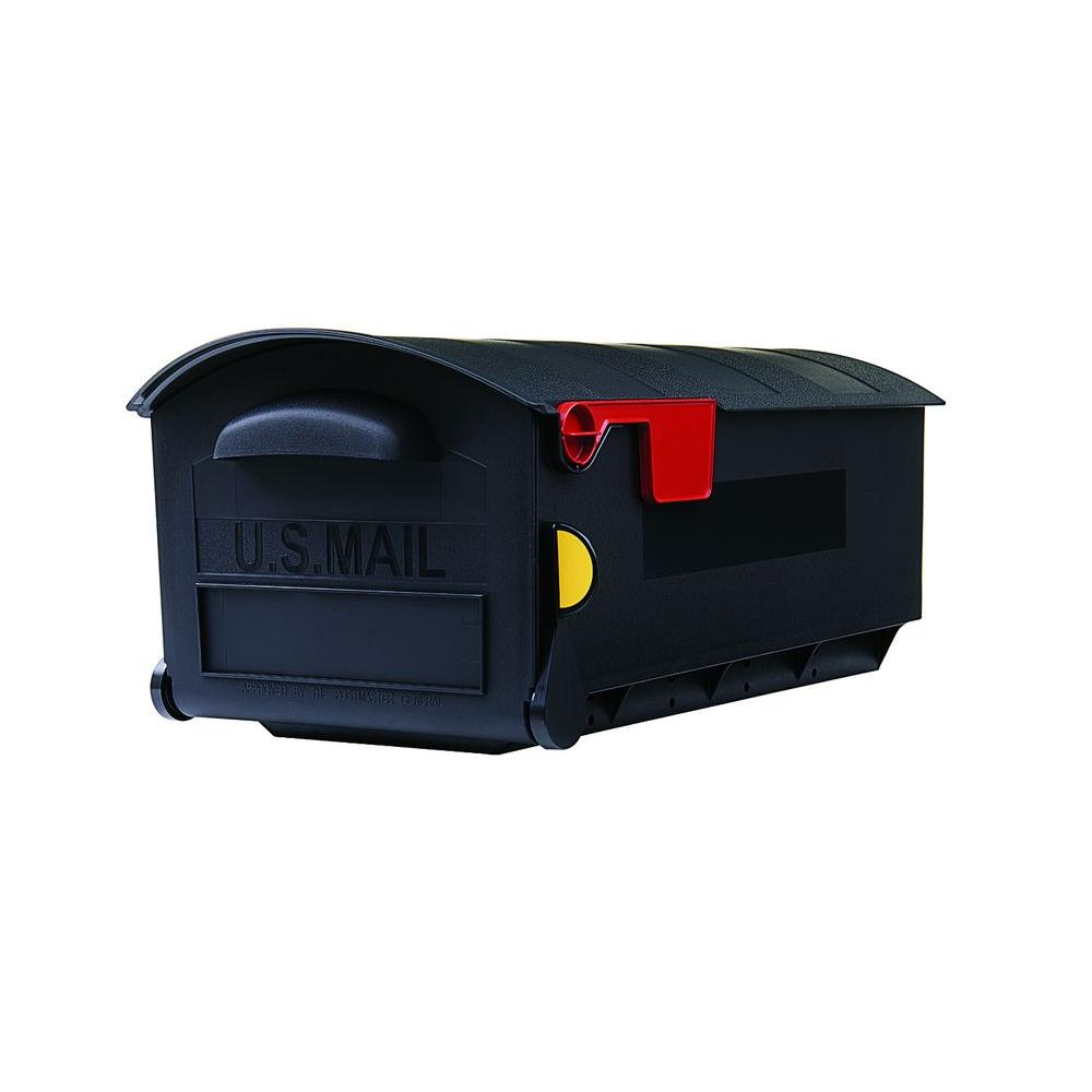 Gibraltar Mailboxes Patriot Large, Plastic, Post-Mount Mailbox, Black