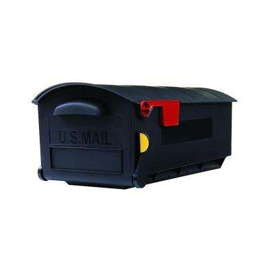 Plastic Black Post-Mount Mailbox