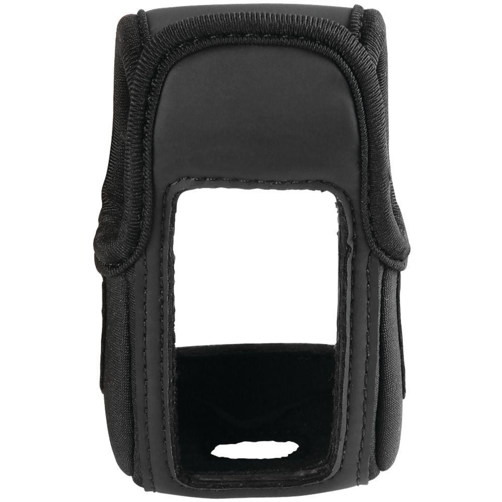 Garmin eTrex GPS Carrying Case Protect your GPS with this close-fitting, lightweight case. Includes belt clip. Carry case protects your eTrex series GPS navigation devices.