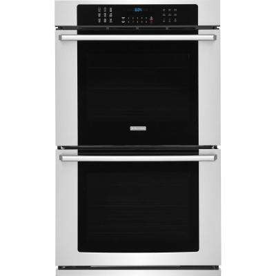 30 in. Double Electric Wall Oven with Air Sous Vide Convection Self-Cleaning in Stainless Steel