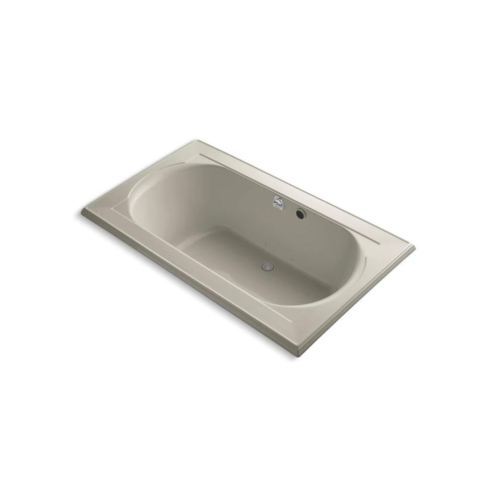 KOHLER Memoirs 6 ft. Acrylic Oval Drop-in Whirlpool Bathtub in Sandbar