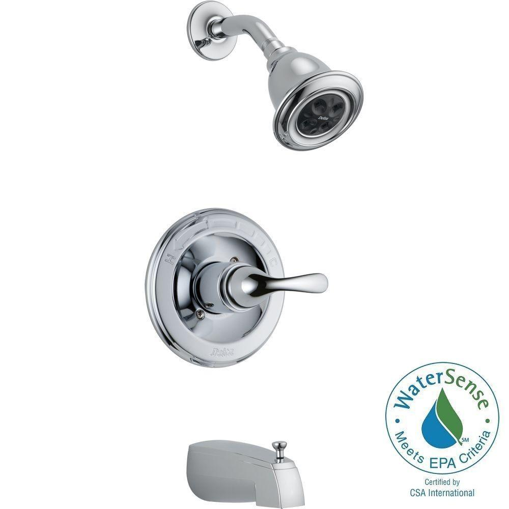 Delta Classic 1-Handle Thermostatic Tub and Shower Faucet Trim Kit ...