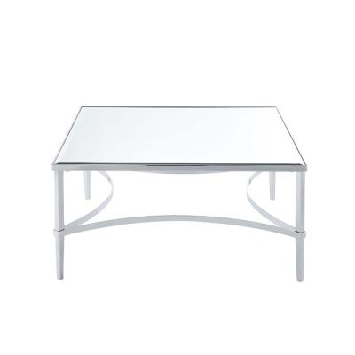 Amelia Chrome and Mirrored Coffee Table