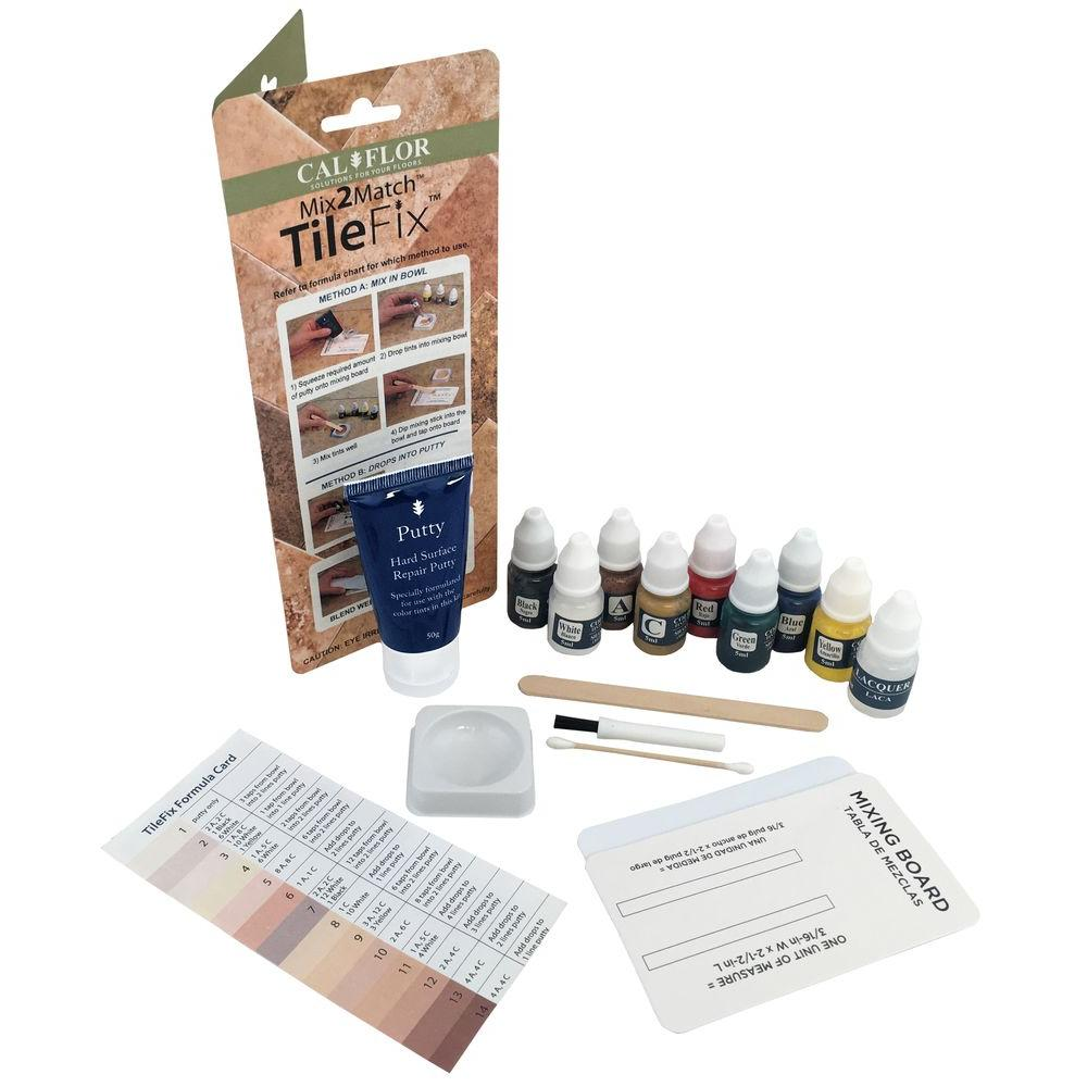 CalFlor TileFix Tile And Stone Repair KitFLCF The Home Depot - Ceiling tile repair kit
