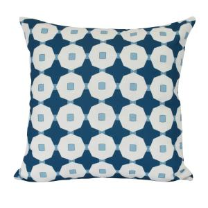 16 inch Button Up Geometric Print Decorative Pillow by