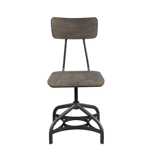 Acme Furniture Jonquil Gray Oak and Sandy Gray Side Chair (Set