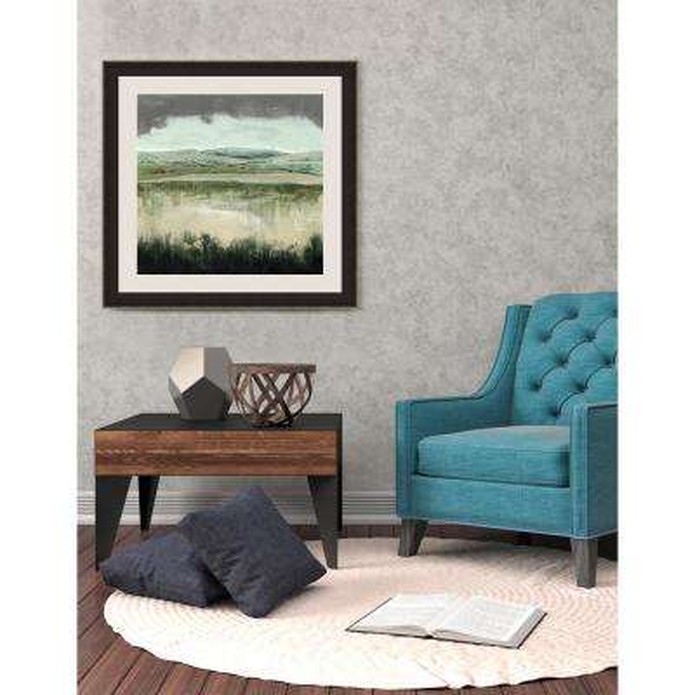 26.5 in. x 26.5 in. 'Crystal Moorland II' by Grace Popp Fine Art Paper Print Framed with Glass Wall Art