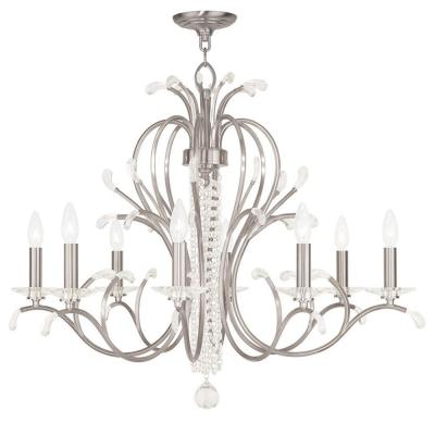 Serafina 8-Light Brushed Nickel Chandelier