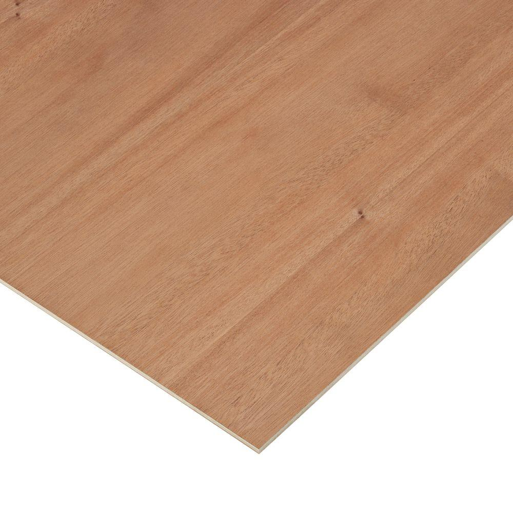 Columbia Forest Products 1/4 in. x 4 ft. x 4 ft. 2-Sided PureBond Mahogany Plywood Project Panel