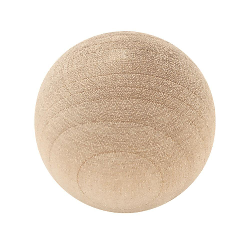Liberty 1 1 4 In Birch Ball Wood Cabinet Knob P10506h Bir C The Home Depot